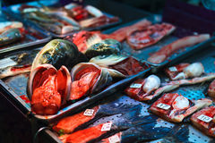 Seafood market Stock Photos