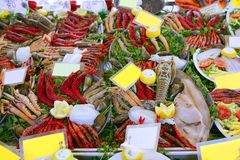 Seafood in market over ice Stock Image