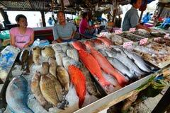 Seafood market. Rawai. Phuket. Thailand Royalty Free Stock Images