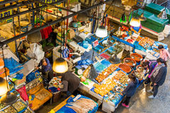 Seafood market in Seoul Stock Photos