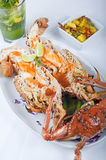 Seafood meal of crab and lobster Royalty Free Stock Photography