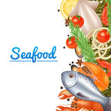 Seafood Menu Background royalty free illustration