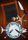 Seafood Menu Background Stock Photography