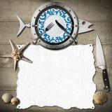 Seafood Menu Background Stock Photo
