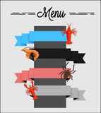 Seafood Menu Banners Royalty Free Stock Images