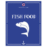 Fish on menu cover Royalty Free Stock Photos