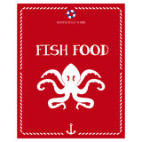 Only seafood menu Stock Photo