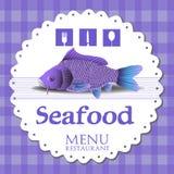 Seafood menu Stock Photography