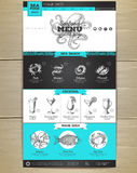 Seafood menu concept Web site design. Royalty Free Stock Photography