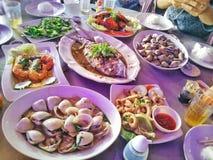 Seafood menu. Delicious Seafood menu Stock Photos