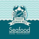 Seafood menu design Royalty Free Stock Images