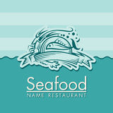 Seafood menu design Royalty Free Stock Image