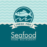 Seafood menu design Royalty Free Stock Images