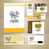 Seafood menu design. Corporate identity. Stock Photography