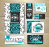 Seafood menu design. Corporate identity Stock Image