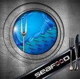 Seafood - Menu Design Stock Photos