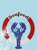 Seafood menu Royalty Free Stock Photos