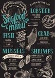 Seafood menu restaurant. Stock Photography