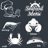 Seafood menu Stock Images