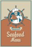 Seafood menu Royalty Free Stock Photo
