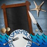 Seafood - Menu Template Stock Photo