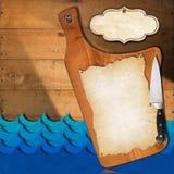 Seafood - Menu Template Royalty Free Stock Photo