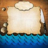 Seafood - Menu Template Royalty Free Stock Image