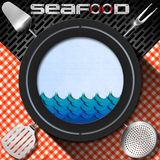 Seafood - Menu Template Royalty Free Stock Images