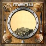 Seafood - Menu Template Stock Photography