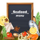 Seafood Menu Template Royalty Free Stock Image