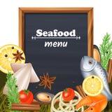 Seafood Menu Template Royalty Free Stock Image