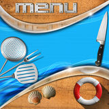 Seafood - Menu Template Royalty Free Stock Photography