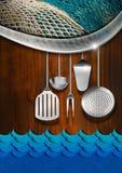 Seafood - Menu Template Royalty Free Stock Photos