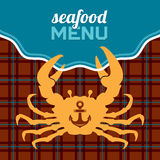 Seafood Menu Royalty Free Stock Photo