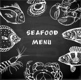 Seafood menu Stock Photo
