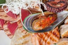 Seafood mix Stock Photo