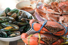 Seafood mix  ,Thailand Royalty Free Stock Photos