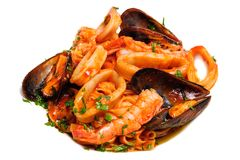 Seafood Mixed Saute Stock Photography