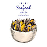 Seafood. Mussels. Royalty Free Stock Photo