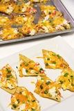 Seafood nachos vertical Royalty Free Stock Photos