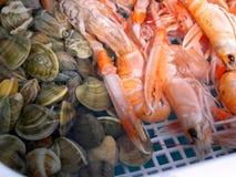 Seafood in Nerja Spain Stock Photo