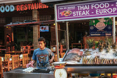 Seafood at the Night Market in Hua Hin Royalty Free Stock Image