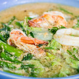 Seafood noodle. Mous and fadelicious Thai food Royalty Free Stock Image