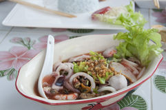 Seafood noodle. Royalty Free Stock Photos