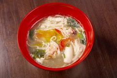 Seafood noodle soup Stock Image