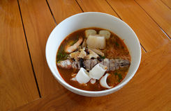 Seafood noodle Stock Images