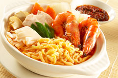 Seafood noodles Stock Image