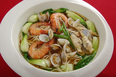 Seafood noodles Royalty Free Stock Photo