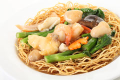 Seafood noodles Royalty Free Stock Images