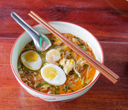 Seafood noodles. royalty free stock photos